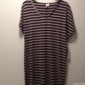 XS Nordstrom Stripe V-neck Tee Shirt Coverup Dress